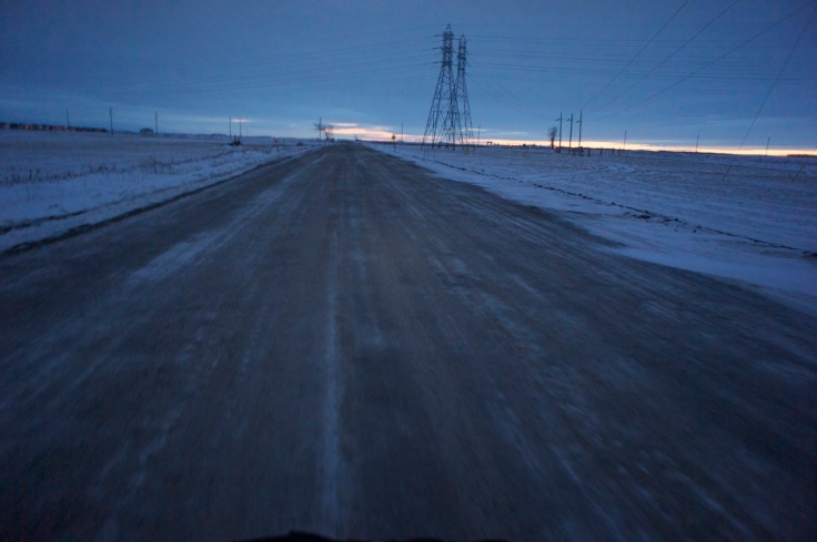 On Brady Road heading to LaBarriere