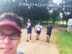 Leaving Stanley Centennial Park.